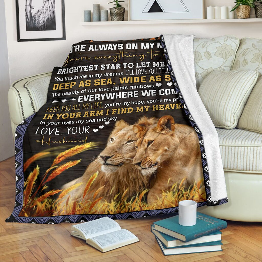 Omegaspeaker-To My Wife I Love You Blanket From Husband - Gift for christmas - You are always on my mind