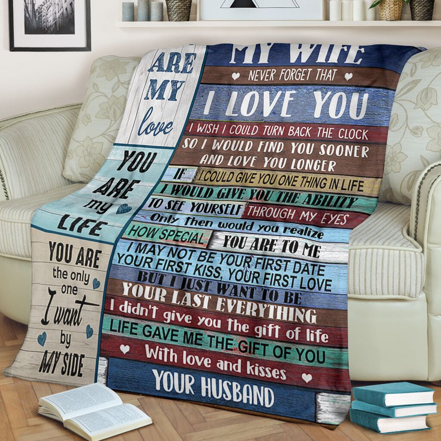 Omegaspeaker-To My Wife I Love You Blanket From Husband - Gift for christmas - Your are my love