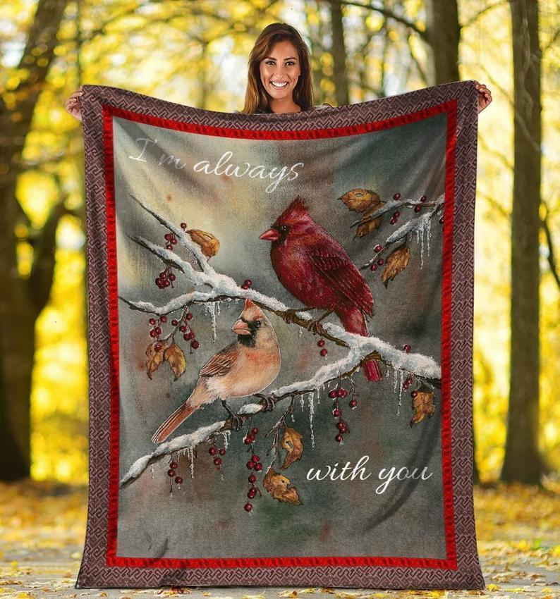 Omegaspeaker-Im Always With You Cardinal Bird Ultra Soft Fleece Blanket