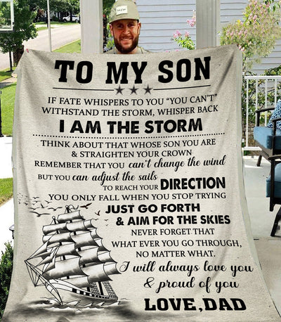 Omegaspeaker - Christmas Gift Idea- to my son - I am the storm - Blanket cn
