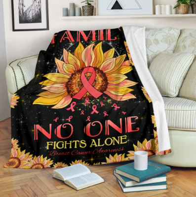 Omegaspeaker-In this family No one fights alone Fleece Blanket