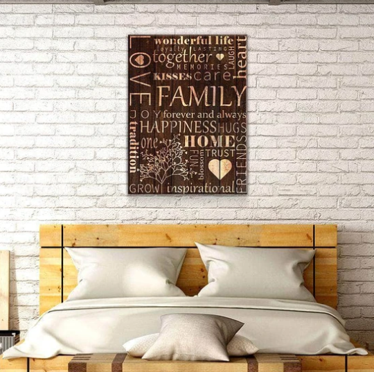 Omegaspeaker -FAMILY WOOD COLLAGE CANVAS WALL ART