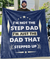 Omegaspeaker-IM NOT THE STEP DAD- Fleece Blankets - Perfect Gifts for Dad Uncle  Grandpa