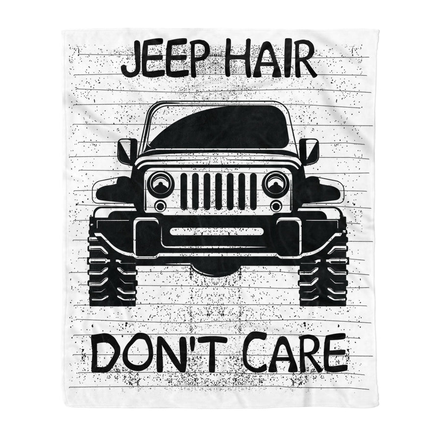 Omegaspeaker-Jeep Hair Dont Care Funny Windy Driving Jeepin Gift - Fleece Blanket