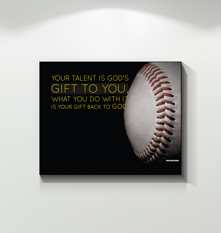 Omegaspeaker -Baseball Custom Canvas prints Your talent is Gods gift to you
