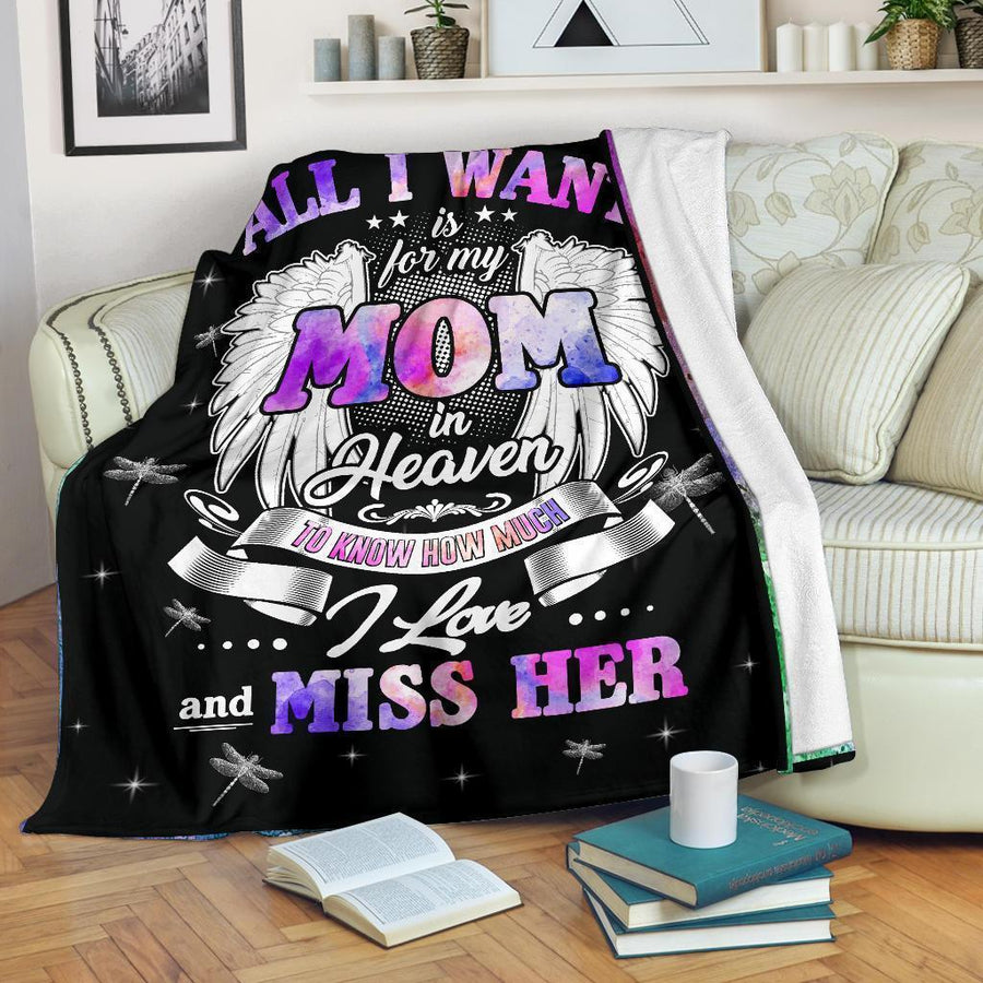 Omegaspeaker-All I want is for my Mom in heaven blanket