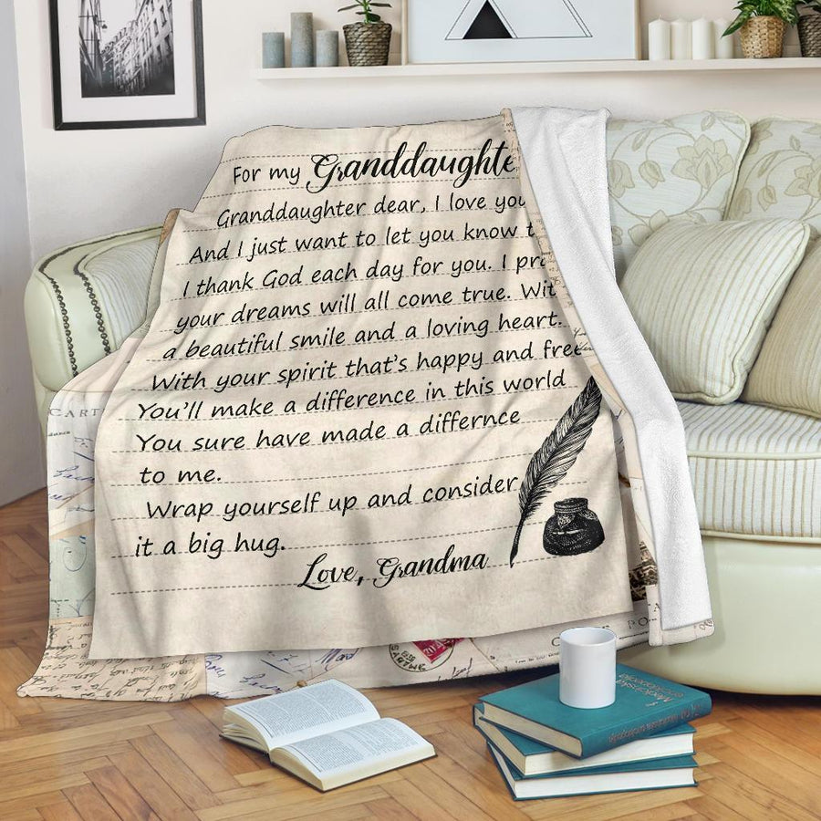 Omegaspeaker - Christmas Gift Idea- the greatest gift granddaughter - Blanket cn