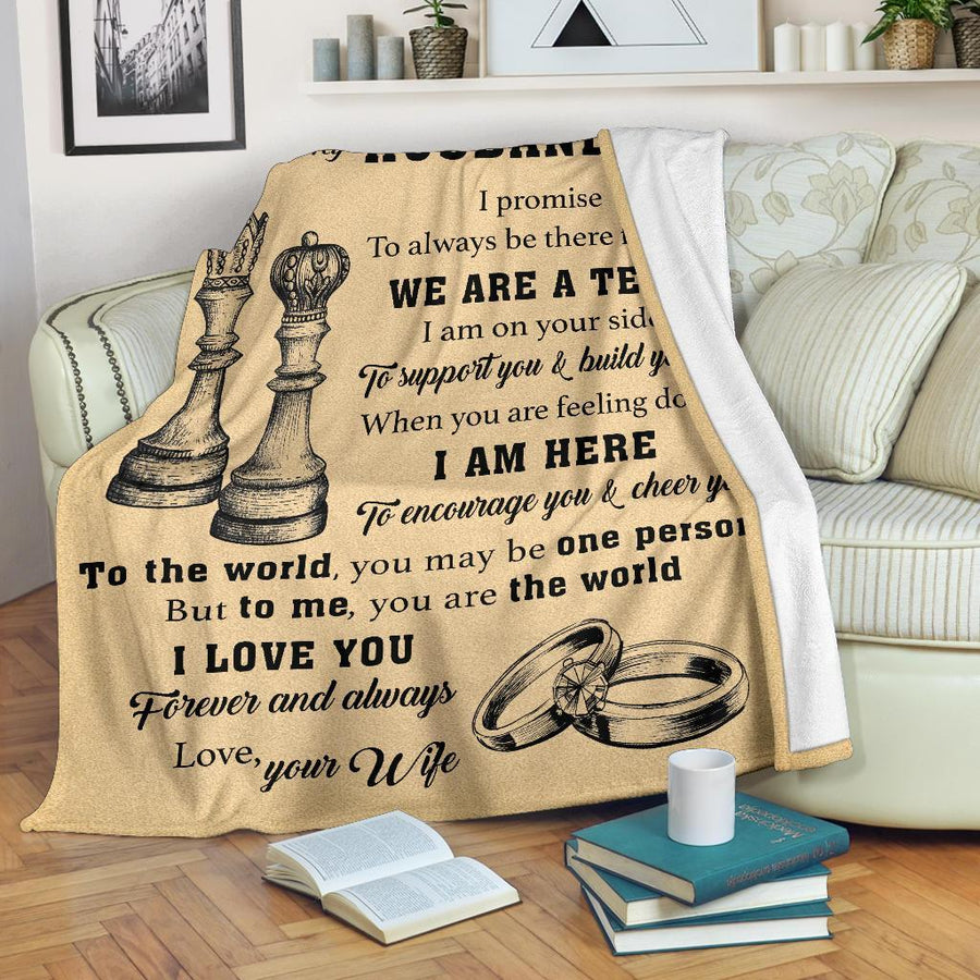 Omegaspeaker- Christmas Gift Idea-gift for husband -  queen and king, we are a team - blanket lt