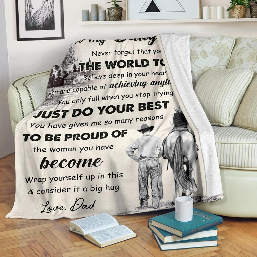 Omegaspeaker - Christmas Gift Idea-to my daughter - the world to me - Blanket cn