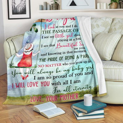 Omegaspeaker - Christmas Gift Idea-Love Daughter for all eternity, Blanket BP