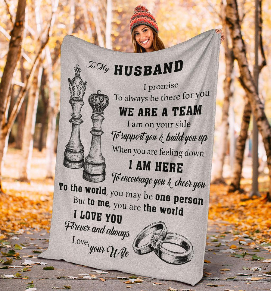 Omegaspeaker - Christmas Gift Idea-gift for husband -  queen and king, we are a team, chess - blanket lt