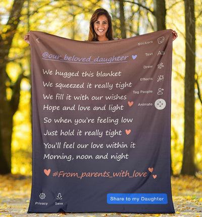 Omegaspeaker - Christmas Gift Idea-Special gift for belove Daughter, Story Blanket BP