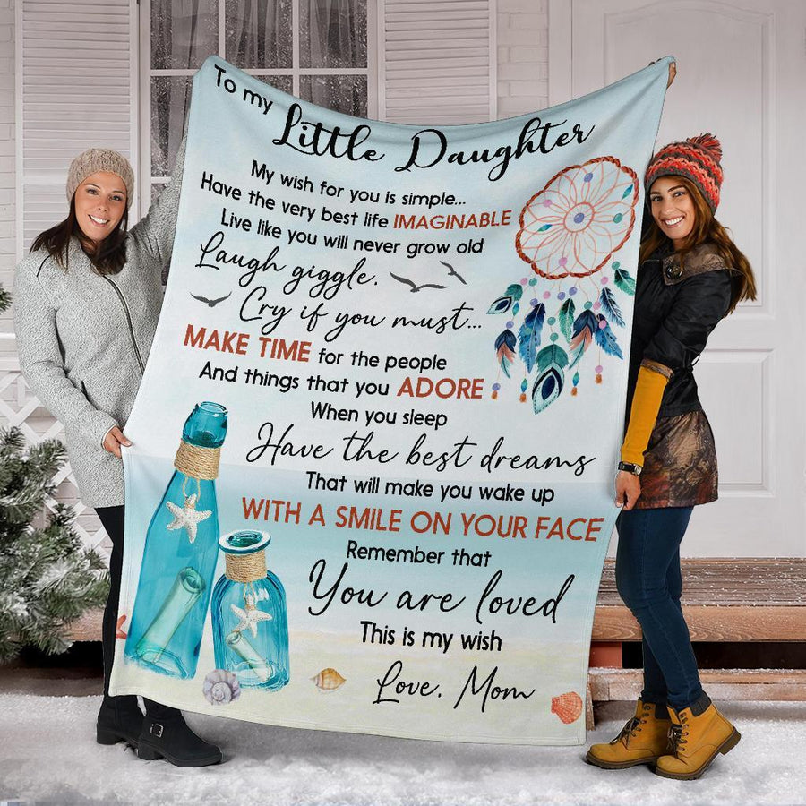 Omegaspeaker- Christmas Gift Idea-gift for daughter -  dreamcatcher, you are loved- Fleece Blanket