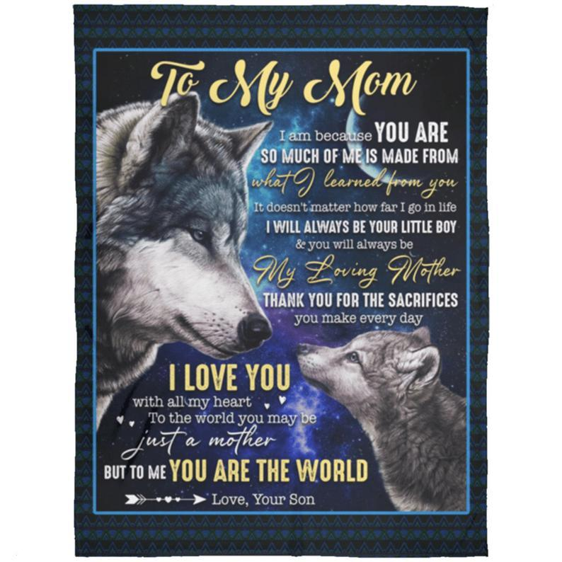 Omegaspeaker-Wolf To My Mom I Am Because You Are So Much Of Me From Son Blanket