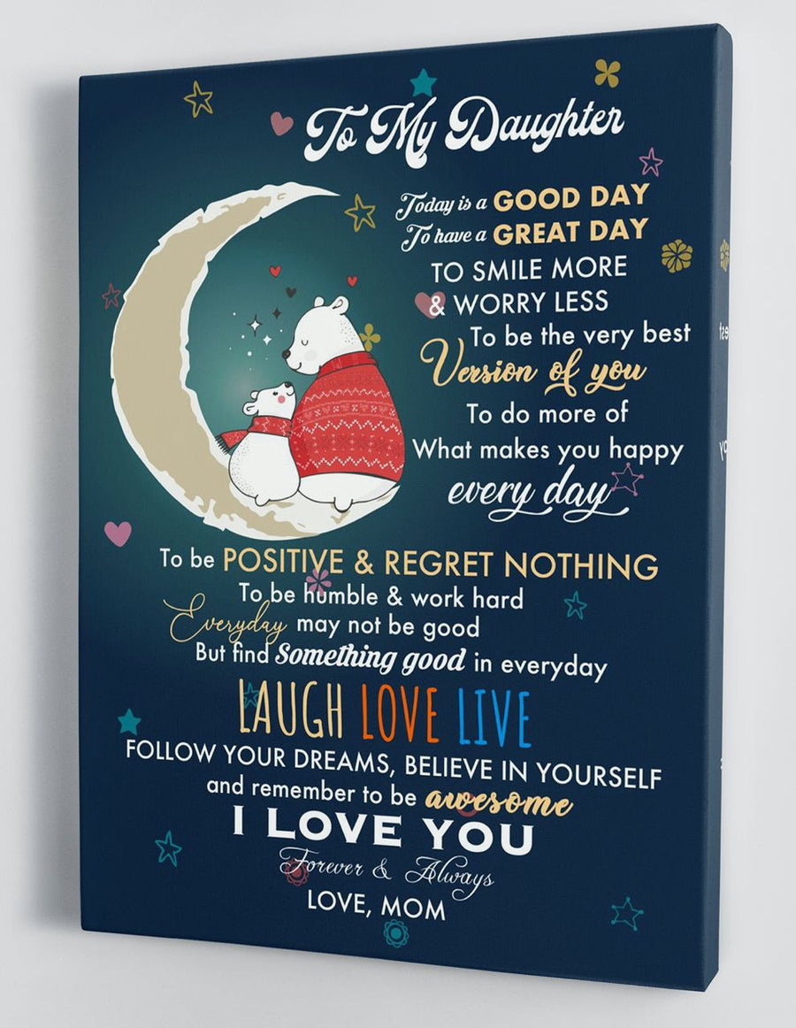 Omegaspeaker-To My Daughter - From Mom - Christmas Canvas Gift BTL061