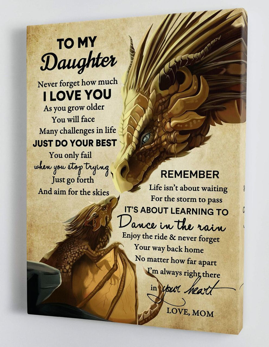 Omegaspeaker-To My Daughter - From Mom - Framed Canvas Gift BTL047