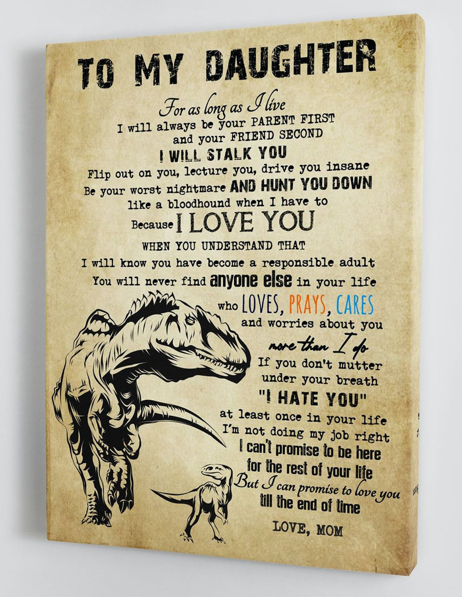 Omegaspeaker-To My Daughter - From Mom - Framed Canvas Gift BTL070