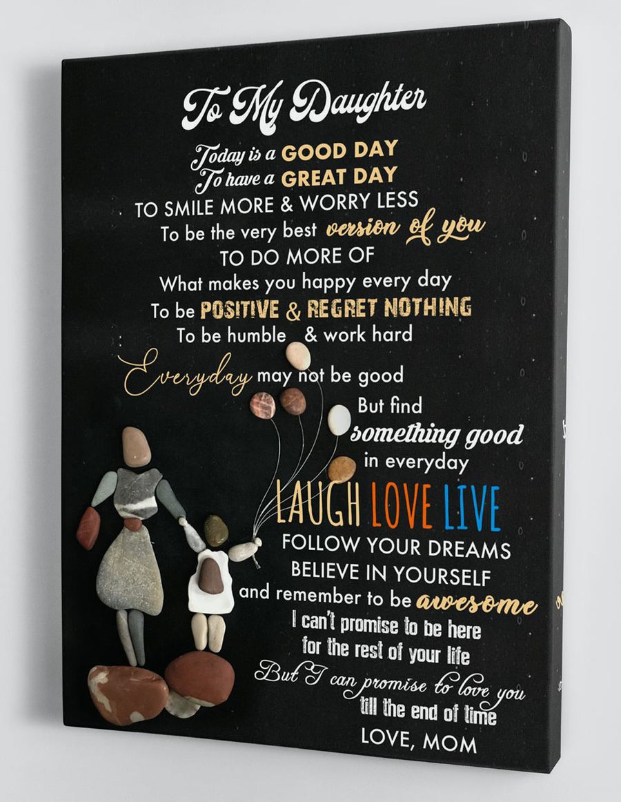 Omegaspeaker-To My Daughter - From Mom - Framed Canvas Gift BTL069