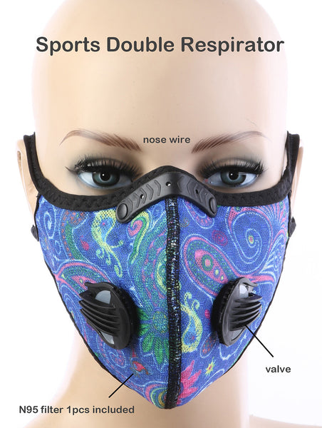 Alexandra Paisley Double Respirator Sports Face Mask