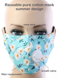 Alexis Floral Print Cloth Face Mask - Multiple Colors