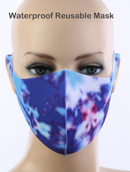 Alisha Waterproof Tie-Dye Cloth Face Mask