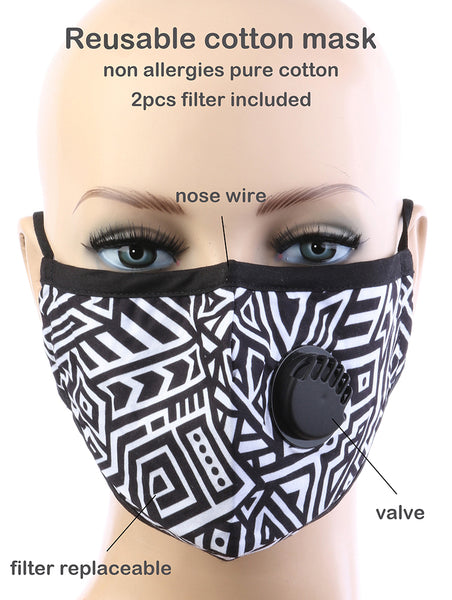 Bethany Contrast Zinger Cloth Respirator Face Mask