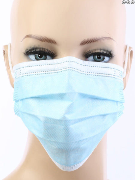 Blue Disposable Face Mask - Box/50