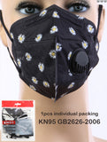 Gigi KN95 Black Floral Disposable Face Mask - Box/10