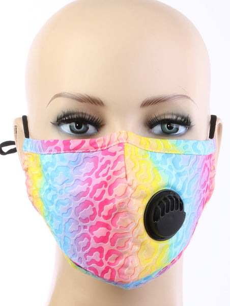 Janey Animal Print Cloth Respirator Face Mask