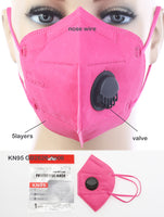 Marlo KN95 Disposable Respirator Face Mask Box/10 - Multiple Colors