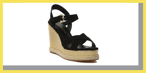 BAEZ ANKLE STRAP WEDGE SANDALS