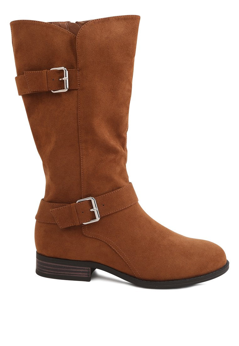 KENNE CALF BOOTS WITH BUCKLE ADJUSTMENT