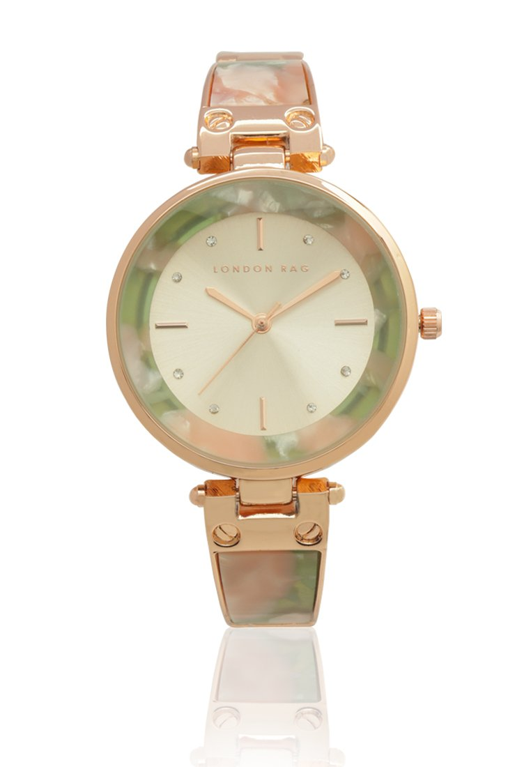 PINK WOMENS ROUND DIAL WATCH