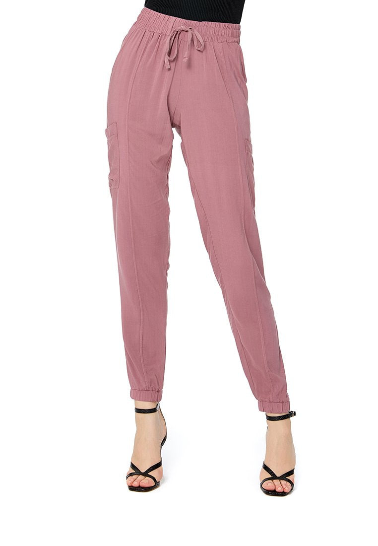 SOLID TROUSERS WITH DRAWSTRING
