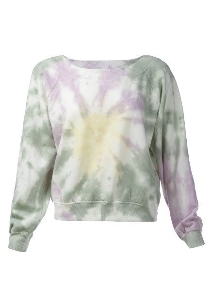 tie dye sweat top