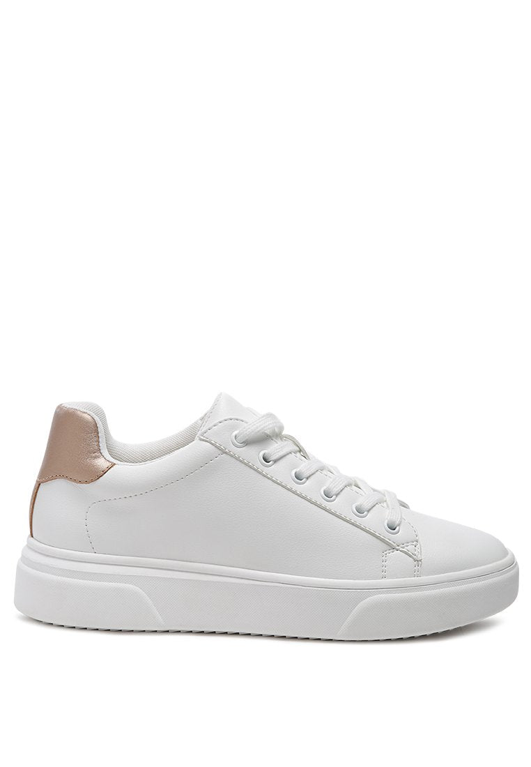 VRENI WHITE SNEAKERS WITH BACK DETAILS