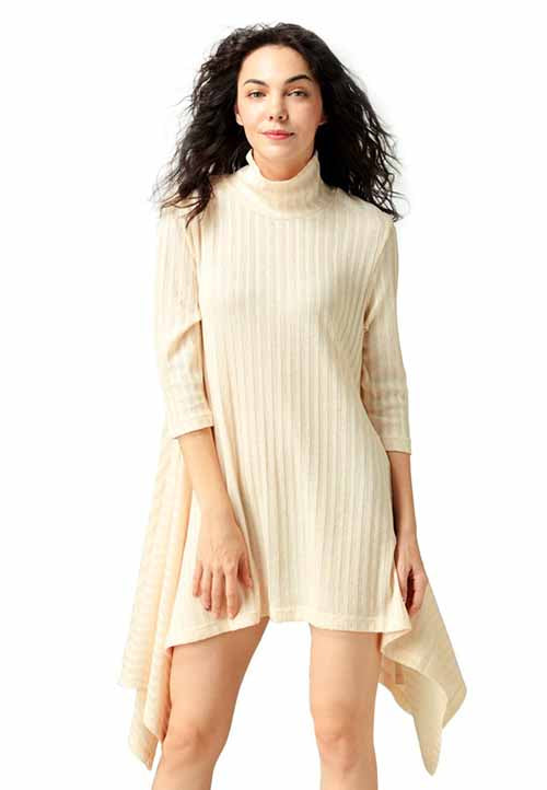 beige_long_sleeve_irregular_hem_sweater_dress
