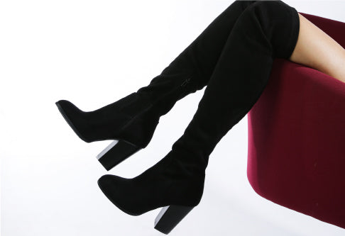DOLLY SOLID KNEE HIGH BOOTS