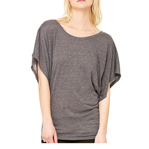 Ladies Dolman Slv with official US OPEN LOGO - DARK GREY OR NAVY HEATHER