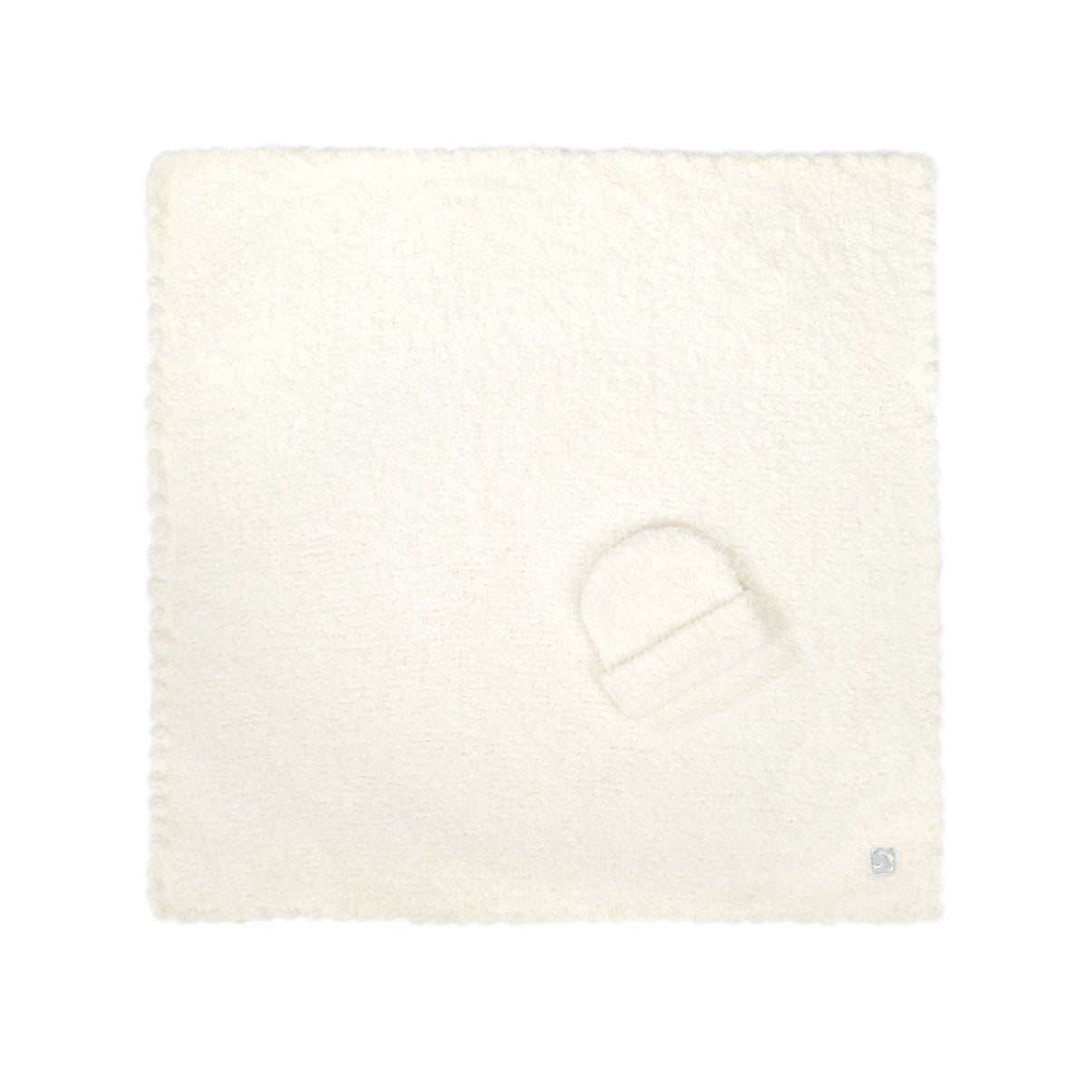 Kashwere Solid Baby Blanket with Cap - Creme