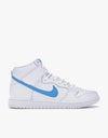 Nike SB Dunk High TRD QS Skate Shoes - White/Orion Blue-White