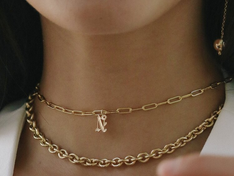 Rebel Old English Initial (Large) Apollo Choker