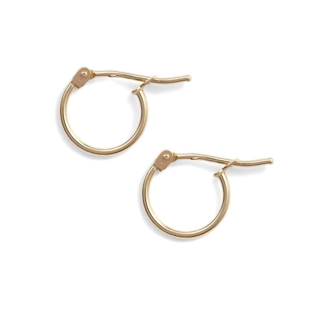 14K Solid Gold Mini Hoops
