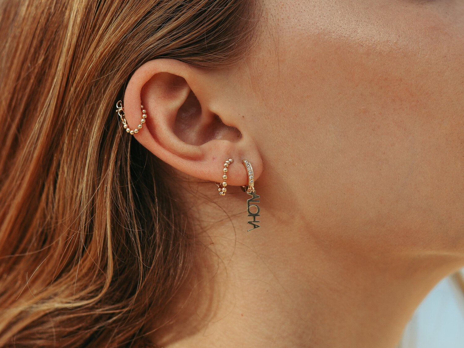 Petite Venus Ball Chain Earrings