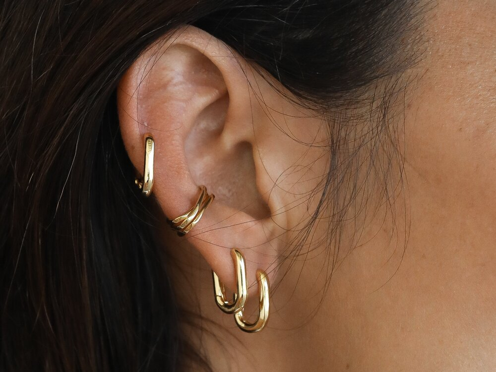 Gold Member Thin Ear Cuffs