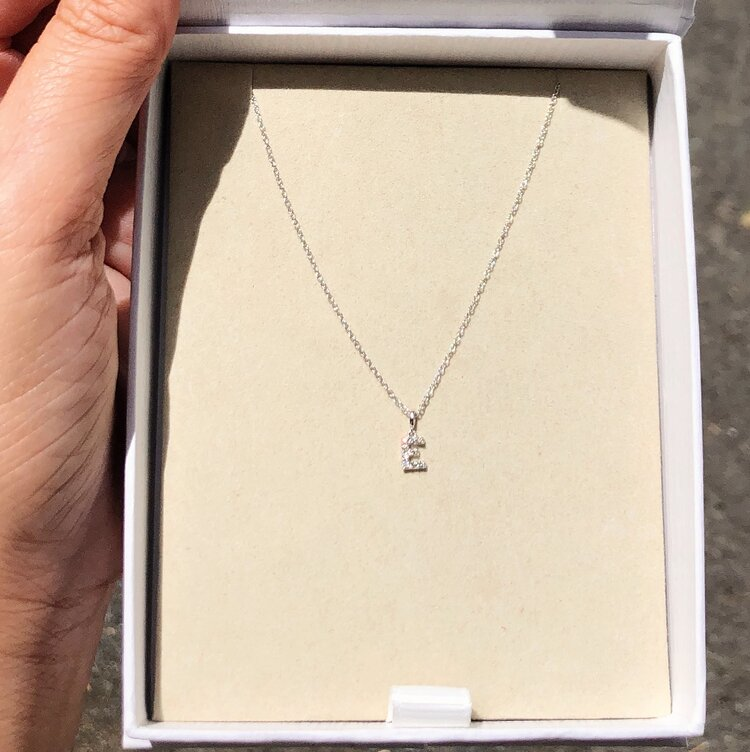 Mini Custom Diamond Initial Necklace
