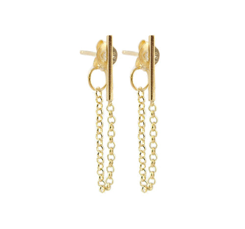Sandbar Chain Earrings