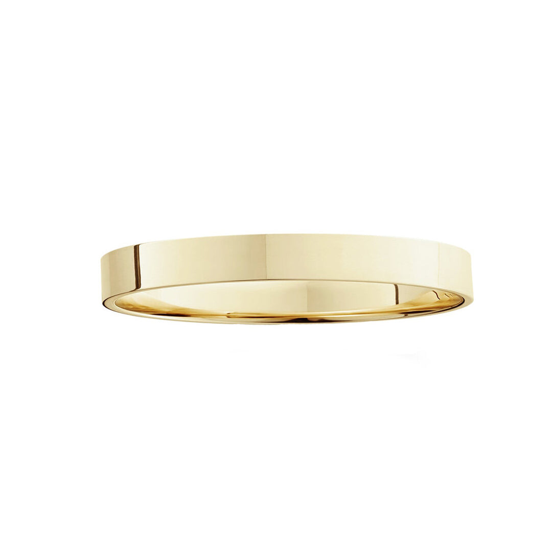 Flat Gold Square Ring