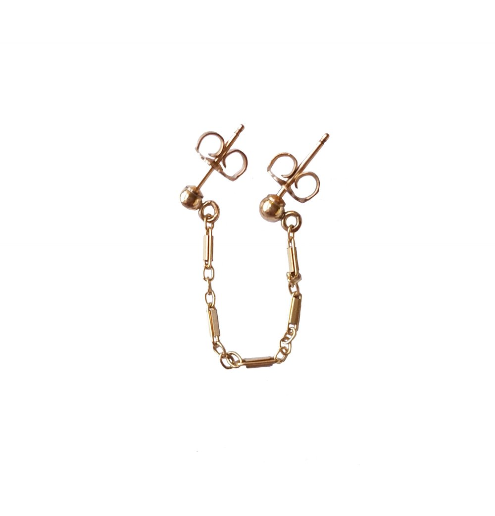 Honeygirl Double Chain Studs
