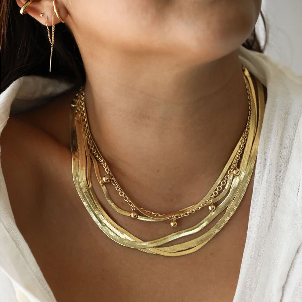 Herringbone Thick Necklace